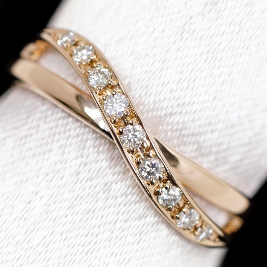 【期間限定】 4℃ ダイヤモンド K18 ピンクゴールド リング, カセダシ 6b77dea1
