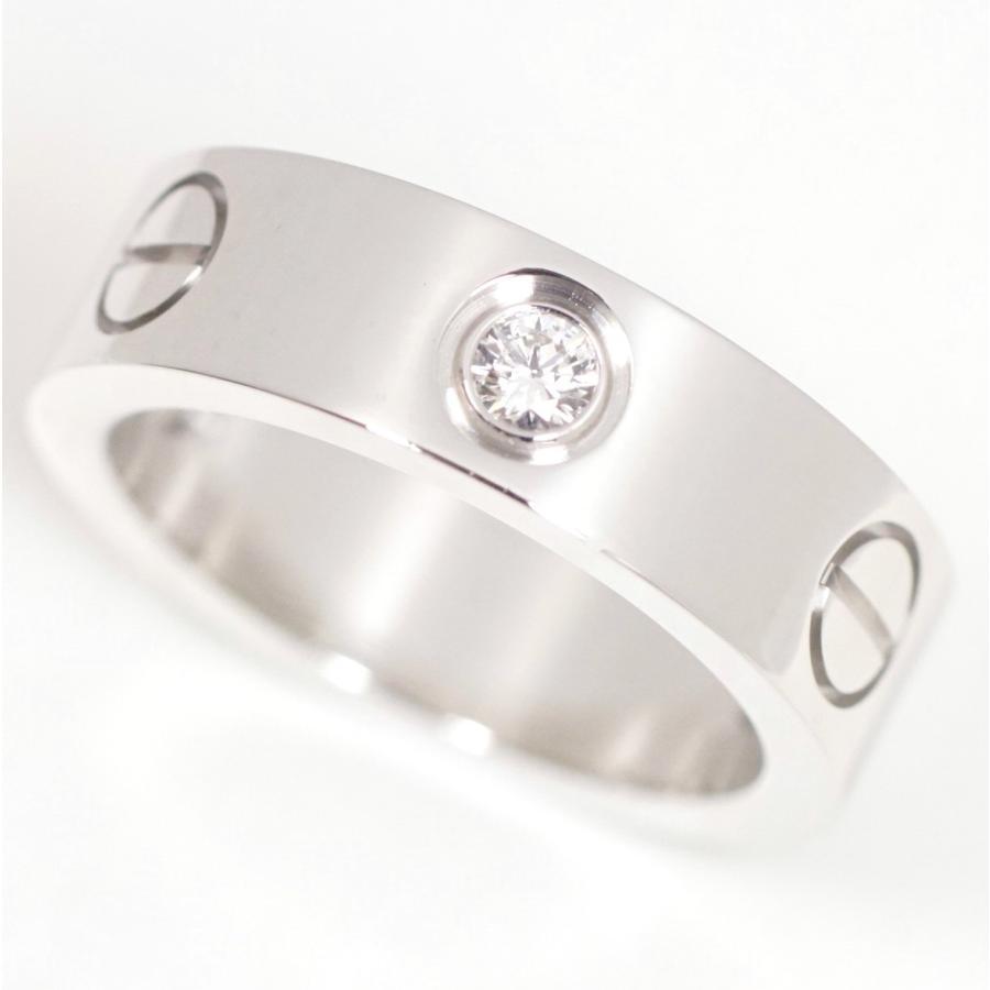 激安特価  Cartier カルティエ ラブリング ハーフダイヤ 750WG(K18ホワイト) #49(約9号) 美品, milky ange 68406cfe