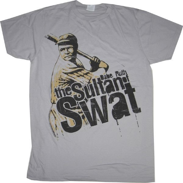 BABE RUTH / ベーブ・ルース - THE SULTAN OF SWAT/SILVER/Tシャツ kaltz