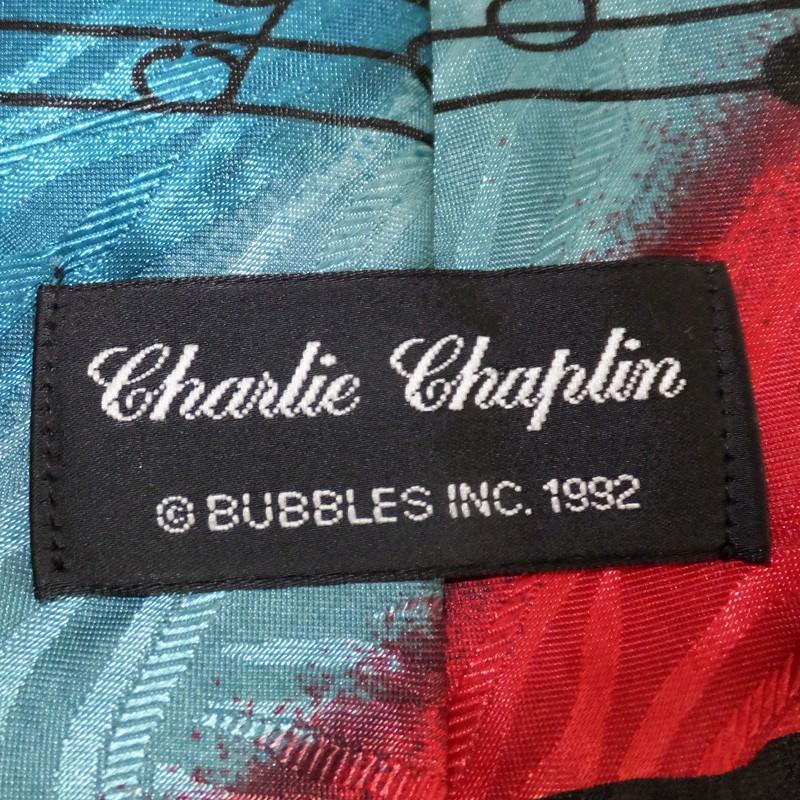 Charlie Chaplin / チャールズ・チャップリン - Vintage Charlie Chaplin Comedy Great / マルチカラー 90年代UK製 古着 ヴィンテージ・ネクタイ kaltz 05