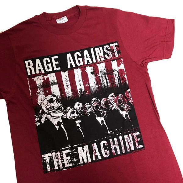 Rage Against the Machine / レイジ・アゲインスト・ザ・マシーン - SKULL MASK / Burgundy Tシャツ(Sサイズ)|kaltz|02