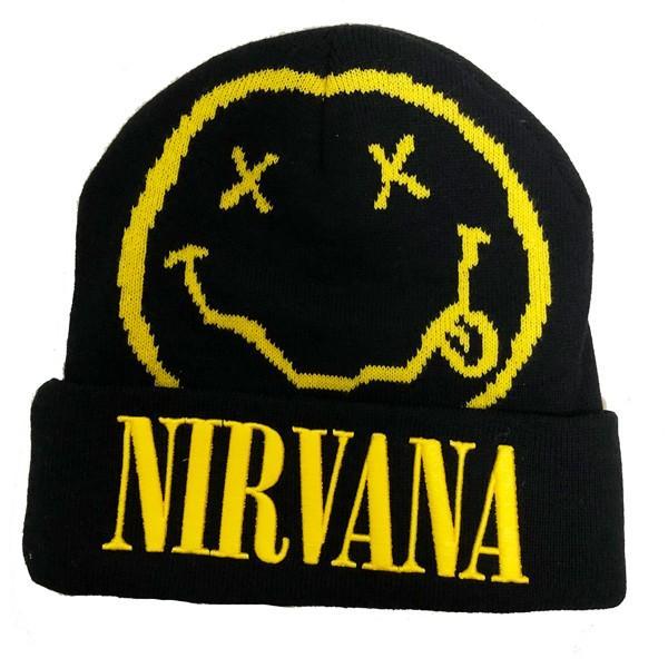 NIRVANA / ニルヴァーナ - Smile ビーニー(帽子・ニット帽) / ブラック kaltz