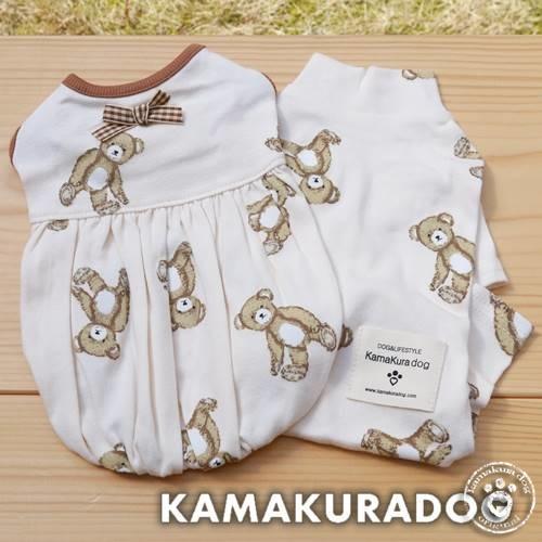 【犬の服】テディベアつなぎ&ワンピース kamakuradog