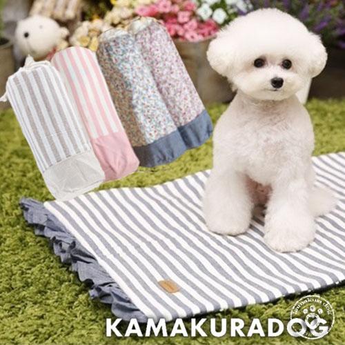 犬のお散歩に カフェマット(滑り止めつき)|kamakuradog