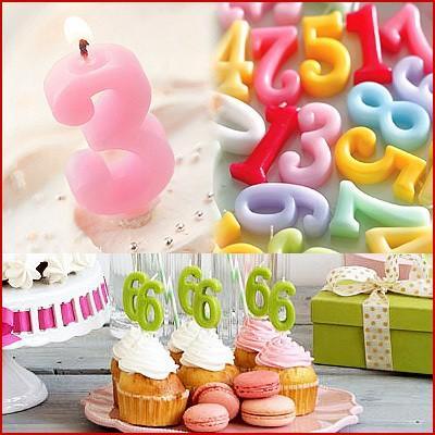 ナンバーキャンドル 数字キャンドル ロウソク ローソク 誕生日ケーキ バースデーケーキ 結婚記念日 1歳 2歳 3歳 成人式 還暦 お祝い 1種お選びください kamasho 02