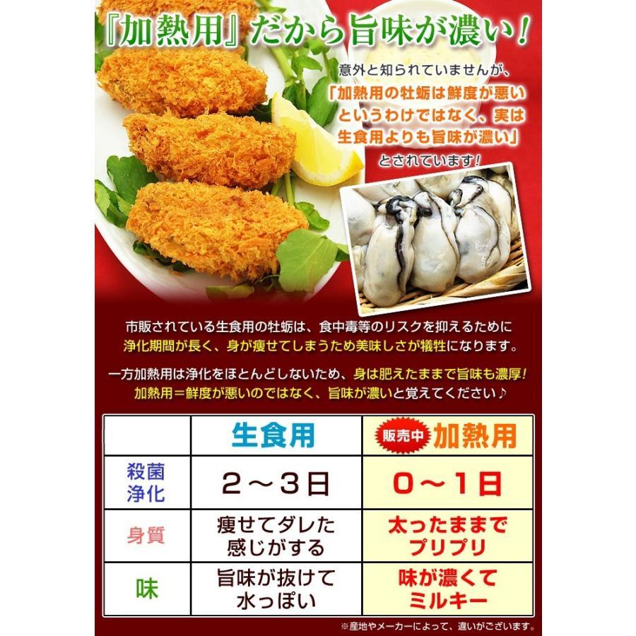 3Lまたは2L 選べる 牡蠣 大粒 カキ 国産 特大 冷凍牡蠣 牡蛎 剥き身 加熱用 広島県産 剥きカキ 総重量 1kg 内容量850g|kamasho|04
