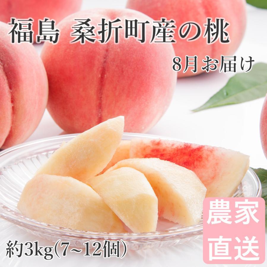 期間限定 桃 3kg 7〜12個 福島桑折町産 通常品 セール特価 8月上旬-9月中旬お届け 品種おまかせ