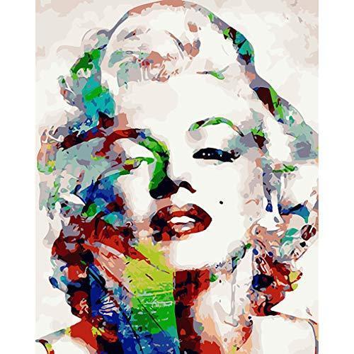 2020 新作 LoveTheFamily 肖像画を描いた 数字油絵 数字キット塗り絵 手塗り DIY絵 デジタル油絵 手工芸 上等 40x50cm 手芸 キット 画材 芸