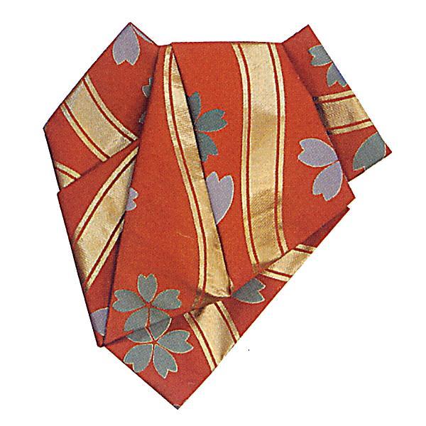 最高の品質の 後見帯 作り帯 後見結び帯 踊り 帯 着物 サビ朱 立涌 桜吹雪 日本舞踊 歌舞伎 成人式, ゴボウシ f862754d