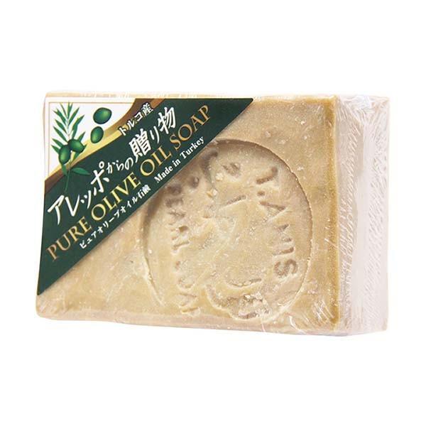 アレッポからの贈り物 オリーブ石鹸 190g ピュアオリーブオイルソープ 石けん せっけん|kamibako2009
