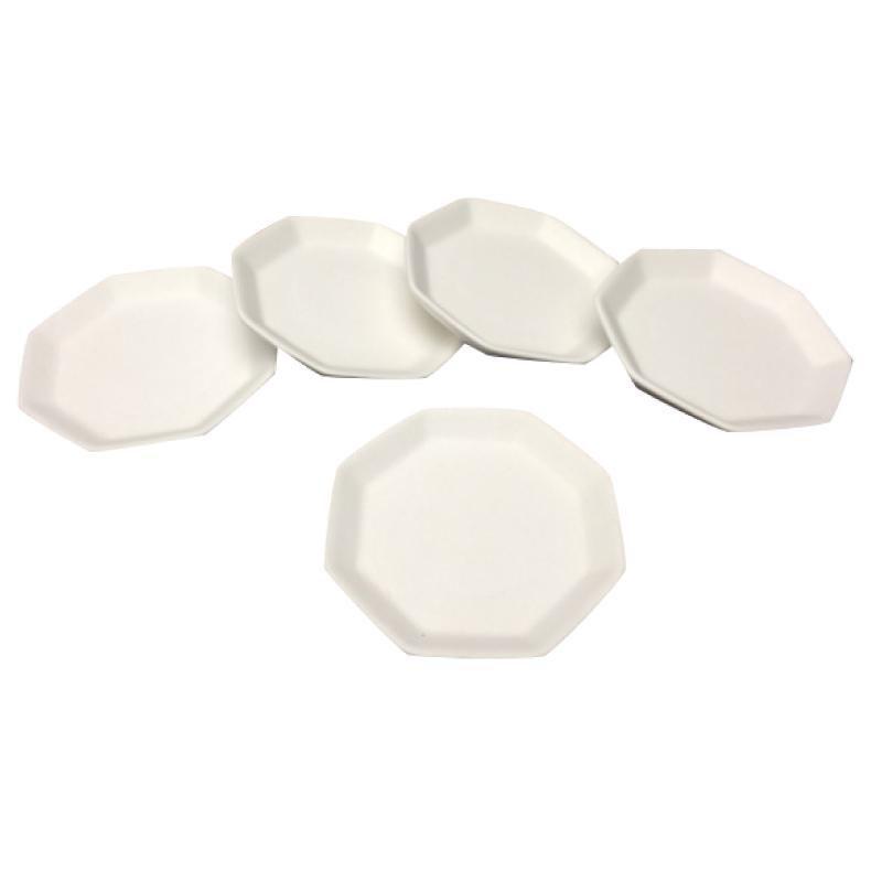 盛り塩 皿 結婚祝い セット 素焼き八角皿 2寸 5枚セット 八角皿 お清め 厄払い 八角 素焼き いつでも送料無料