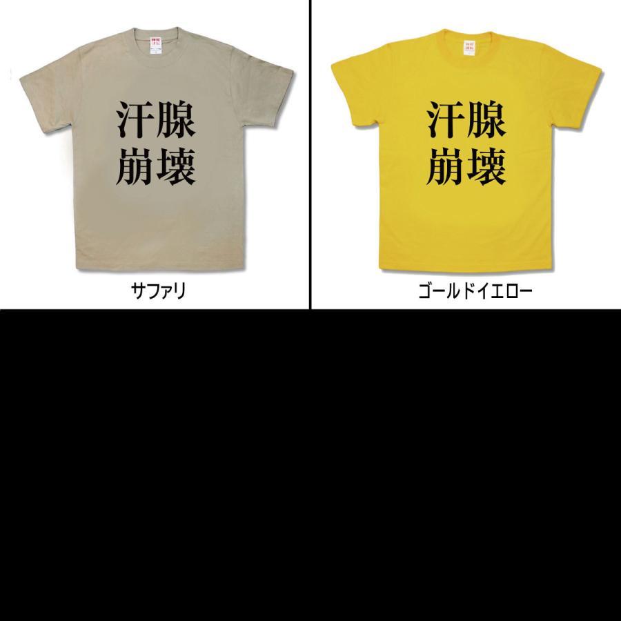 【おもしろTシャツ】汗腺崩壊|kamikazestyle|03