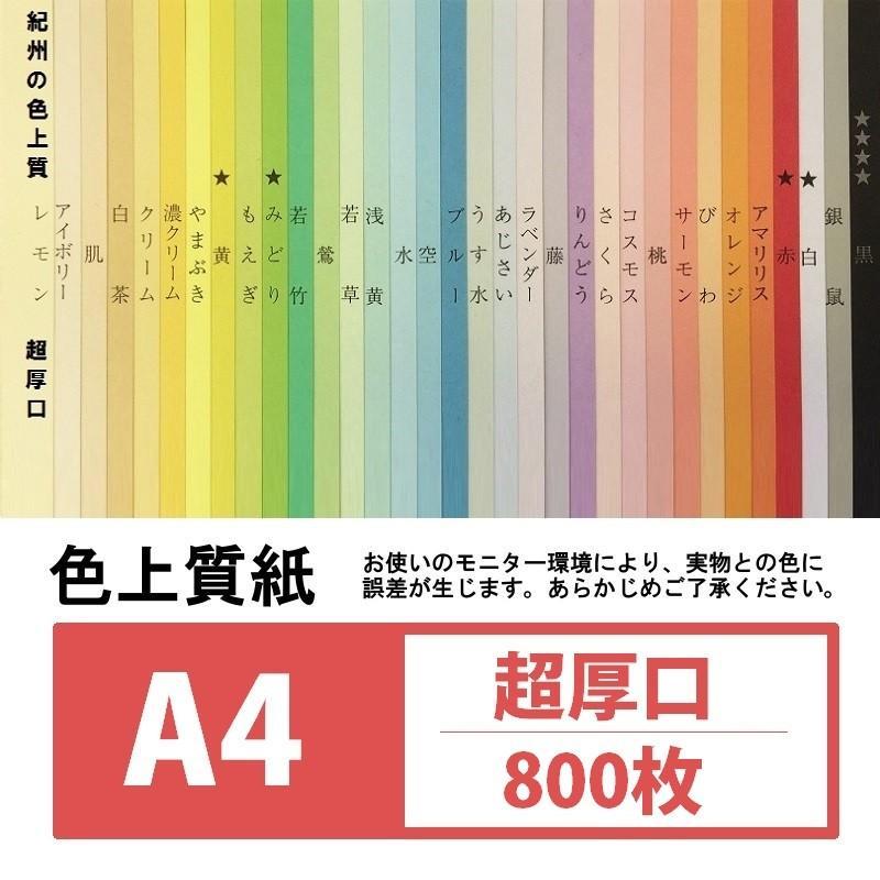 図画工作用紙 最安値挑戦 新入荷 流行 色上質紙 超厚口 800枚入り A4