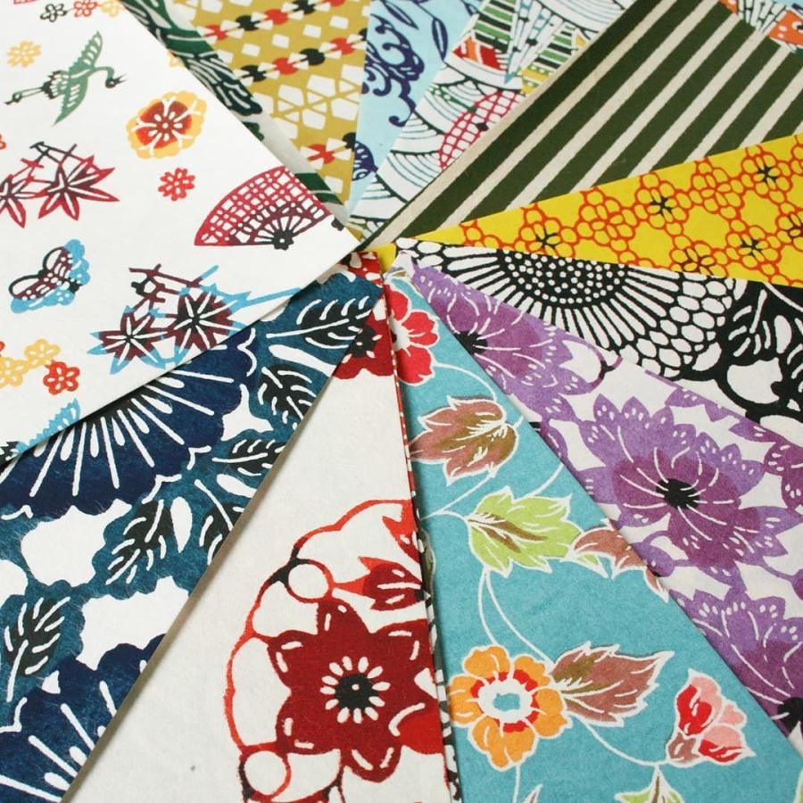 型染め和紙 20枚セット和紙 ポスト投函 送料無料 千代紙 高級折り紙  kamon-sakuraya 02