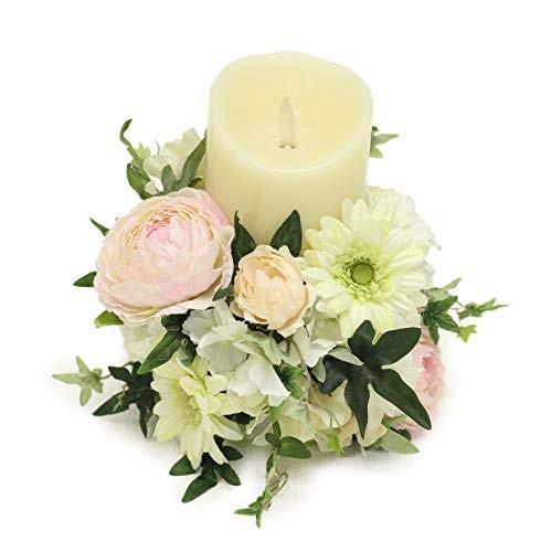 Makefuture シャンティー ルミナラ LEDキャンドル フラワーアレンジ 高級造花使用