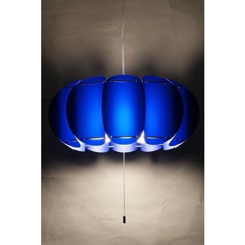 marumitsu marumitsu <パンプキン ペンダント> 3灯用 全24色(コード長調整機能付-電球別売) インディゴブルー