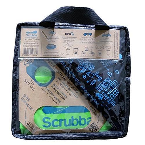 旅行用洗濯袋 Scrubba Washbag スクラバ ウォッシュバッグ 便利トラベルグッズ キャンプ 2017年モデル+トラベルセット(脱