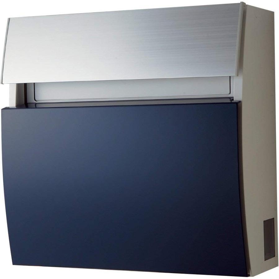 パナソニック(Panasonic) 郵便受け・メールボックス サインポスト フェイサスFF ラウンドタイプ ネイビーブルー CTCR2203