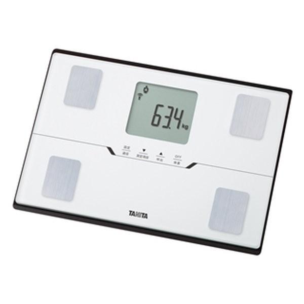 人気激安 タニタ スマホ連動 体組成計 薄型ワイド 体重計 パールホワイト スマートフォン通信対応 コンパクト-健康管理、計測計