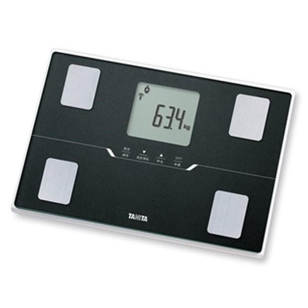 好評 タニタ 薄型ワイド スマホ連動 体重計 メタリックブラック スマートフォン通信対応 コンパクト 体組成計-健康管理、計測計