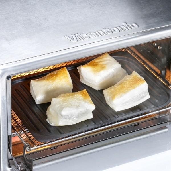 グリル名人 魚焼きグリルパン 浅型・深型スタッキンググリルプレート 波型プレートセット オーブン ガス火 IH対応|kanaemina|16