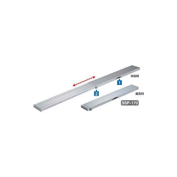 【ハセガワ】伸縮足場板 SSP-170 SSPスライドピット(R) 片面タイプ
