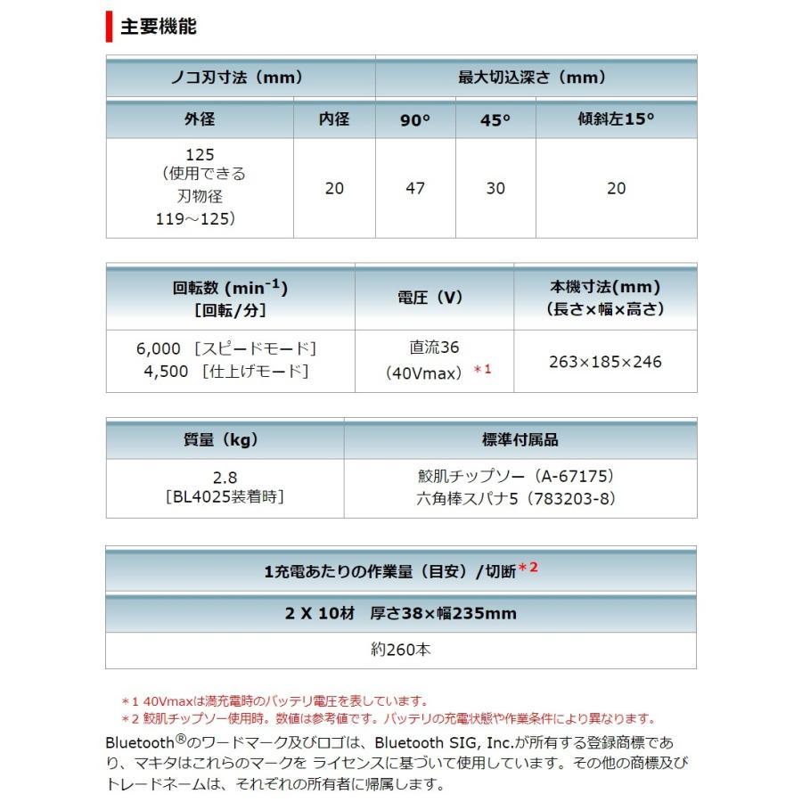 マキタ 40Vmax 125mm 充電式マルノコ HS005GRDX 無線連動非対応 際切りベース(別体式)|kanamono-store|04