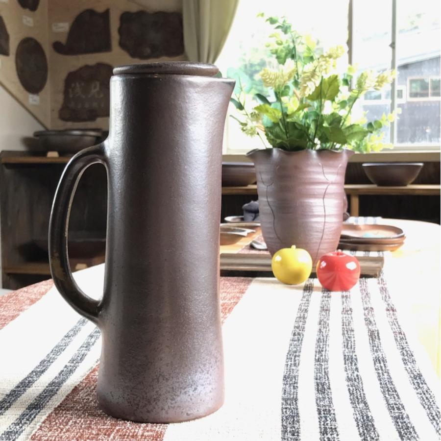 金山がおいしい水(ストレート)/津軽金山焼 金山焼 ウォーターポット 水ボトル 陶器 おしゃれ おいしい水 贈り物 日本製 手作り 水ポット |kanayamayaki