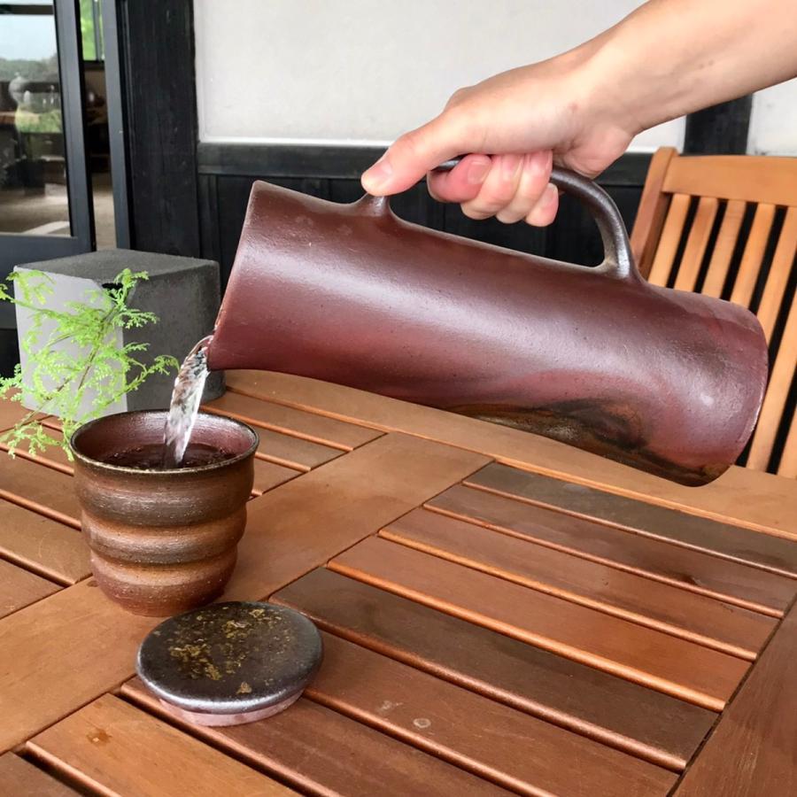 金山がおいしい水(ストレート)/津軽金山焼 金山焼 ウォーターポット 水ボトル 陶器 おしゃれ おいしい水 贈り物 日本製 手作り 水ポット |kanayamayaki|06