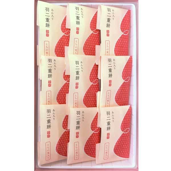 ≪菓匠みのや≫金沢 あん入り羽二重餅(とちの実入り)(9個入)|kanazawa-honpo|02