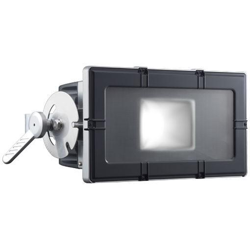 岩崎電気 E35104W/NSAN8 レディオックフラッドキューブ 210Wタイプ(水銀ランプ250W角形投光器×2台相当)昼白色 フラットアーム グレイメタリック ブラック [ysc]