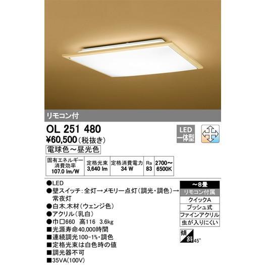 オーデリック オーデリック 和照明 和シーリング・ペンダントライト OL251480