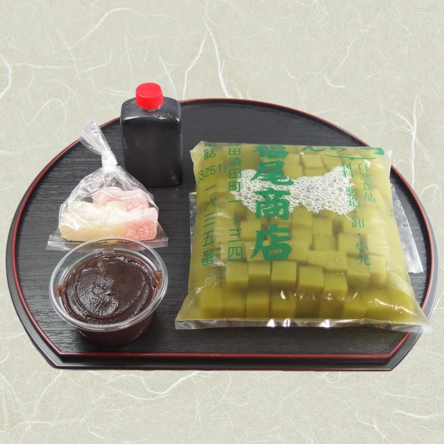 抹茶あんみつ 3人前セット kanda-fukuoshouten 03