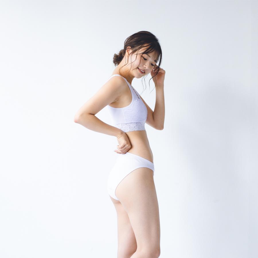 ふんどしショーツ レディース 女性用  綿100% コットン 深履き S M L LL 3L  締め付けない ふんどしパンツ シーピース ショーツ フローラ kandume-com 11
