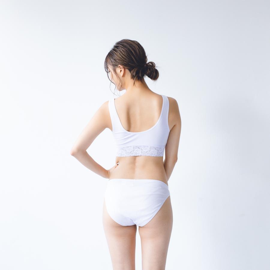 ふんどしショーツ レディース 女性用  綿100% コットン 深履き S M L LL 3L  締め付けない ふんどしパンツ シーピース ショーツ フローラ kandume-com 12