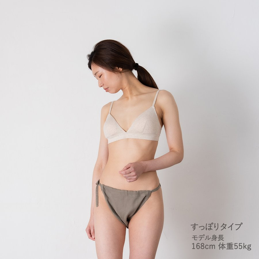 ふんどしパンツ 単色カラー レディース 女性用 綿100% ローライズ すっぽり(深履き)デイリー もっこふんどし 締め付けない カンジダ kandume-com 06