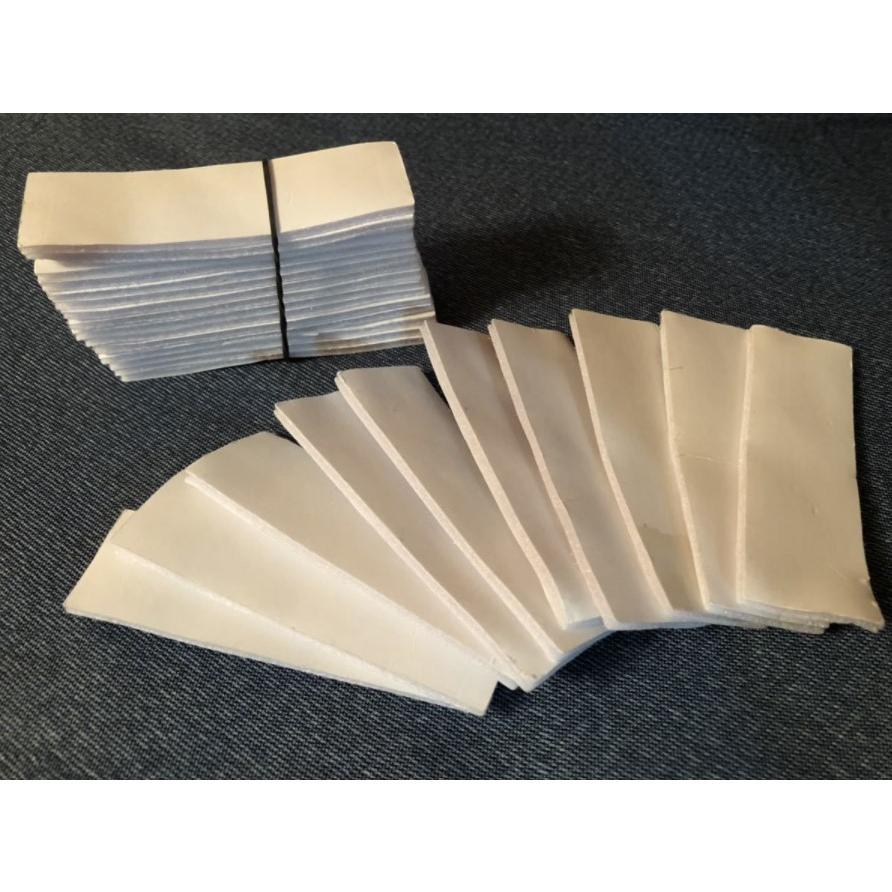 面ファスナー 両面テープ 方形 超強力 5枚 裁縫 手芸 オス メス 固定 業務 粘着 黒 白 ※ クラレ の マジックテープ ではありません。|kanedasyoten|08