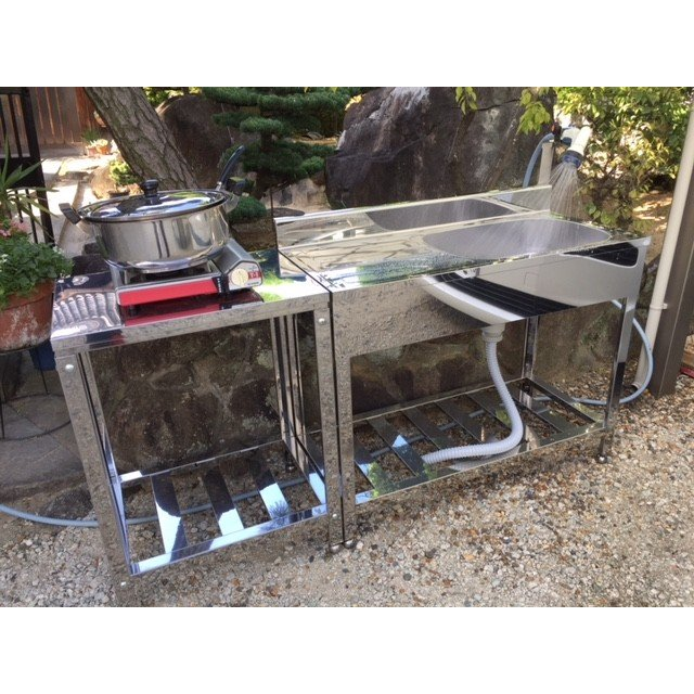 業務用 作業台 ガス台 キッチン 厨房機器 KG−1000 1000×460×600 カネクラ商店