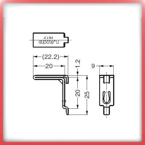 SPE型 棚受 ステンレス製 LAMP スガツネ SPE-FB20S SPE型専用棚受|kanemasa-k|02