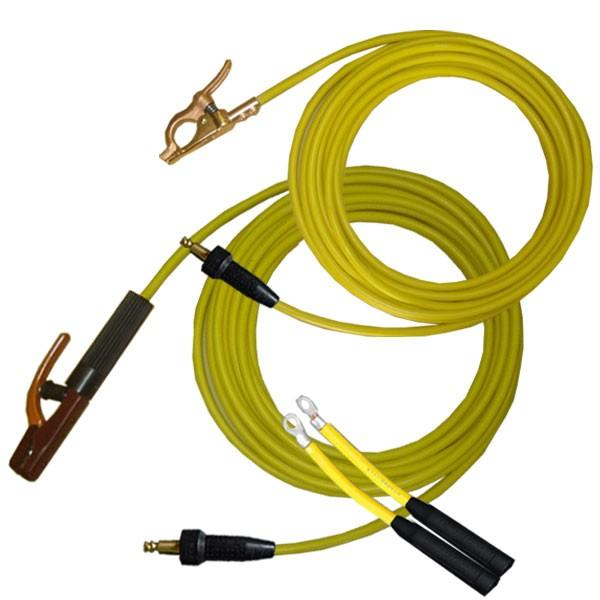 60000-780 溶接用WCT【キャプタイヤ】 22SQ 黄色 ホルダー20m/アース10m 中島式