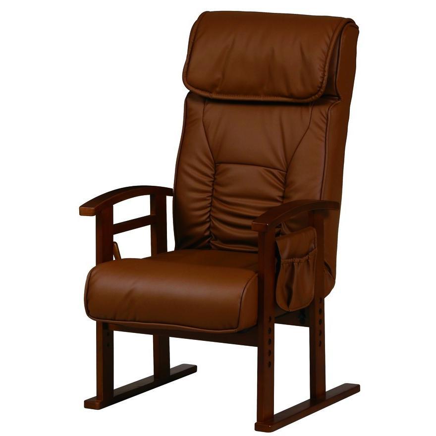 リクライニングチェア 高座椅子 REC-21SP(BR)ブラウン ガスシリンダー式リクライニング機能付(無段階)【送料無料】 リクライニングチェア 高座椅子 REC-21SP(BR)ブラウン ガスシリンダー式リクライニング機能付(無段階)【送料無料】