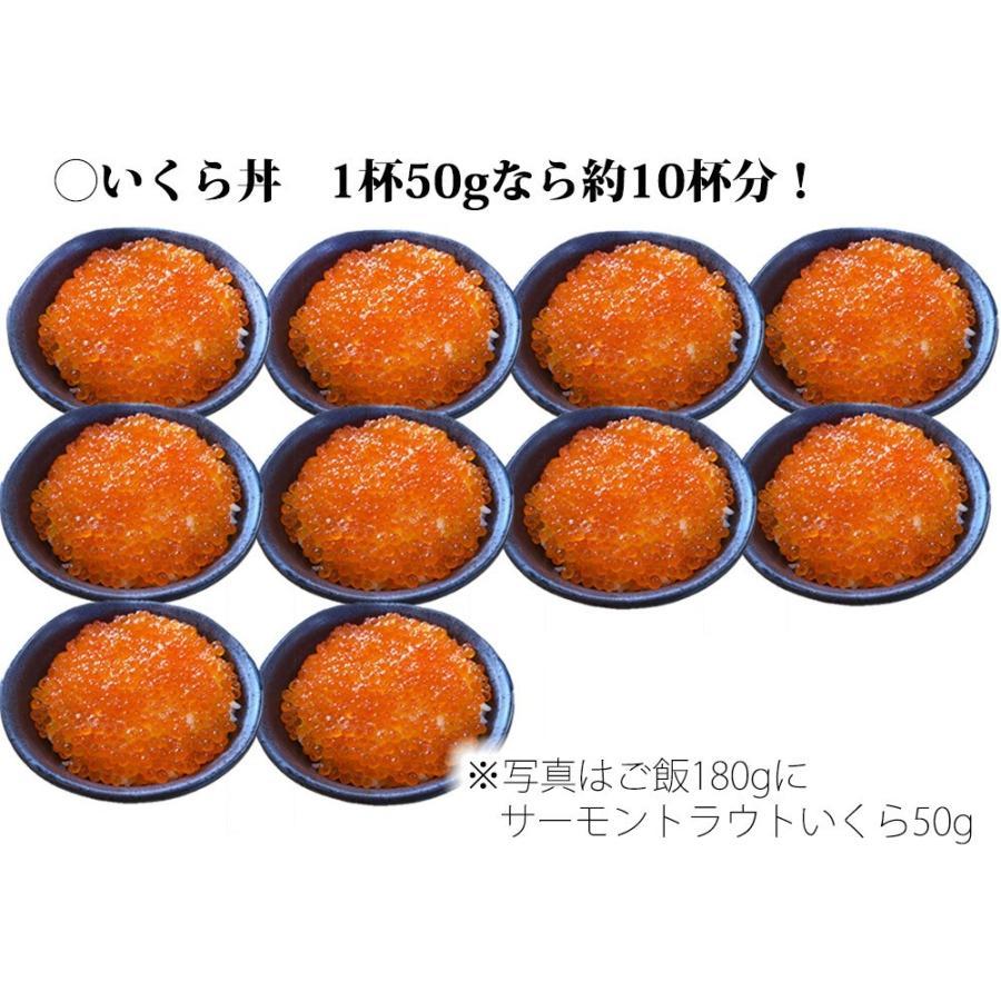 いくら イクラ 醤油漬 ( サーモントラウト 卵 ) 500g(250g×2パック入り) / 北欧サーモン いくら イクラ 小粒 海鮮 丼 手巻き|kanipara|08