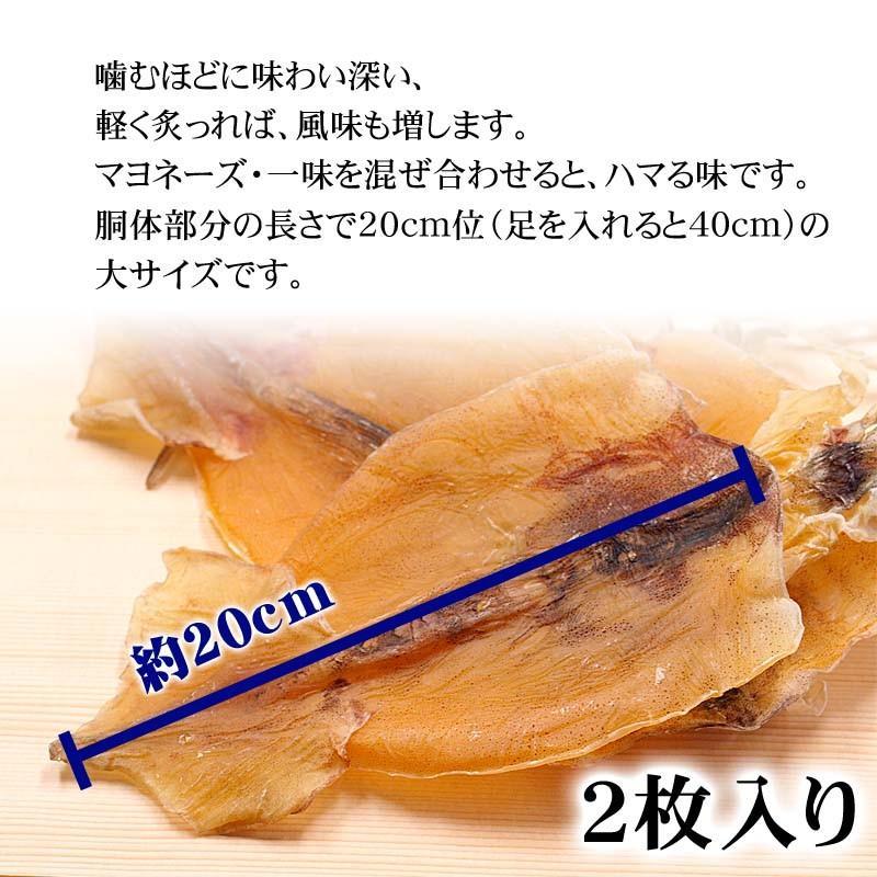 ポイント消化消費 (メール便なら送料無料)眞いか スルメ 2枚 北海道の珍味、無添加のするめいか kanitaro 03
