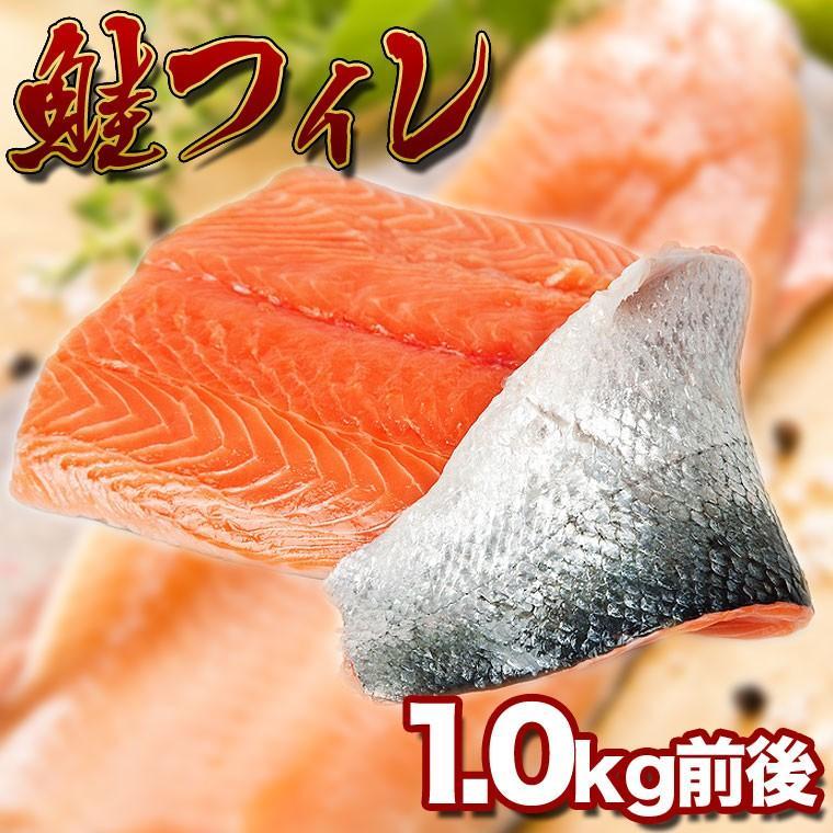シャケ 送料無料 鮭フィレ (1.0kg前後) 冷凍 ロシア産 生シャケを急速冷凍 お歳暮 ギフト 年内発送