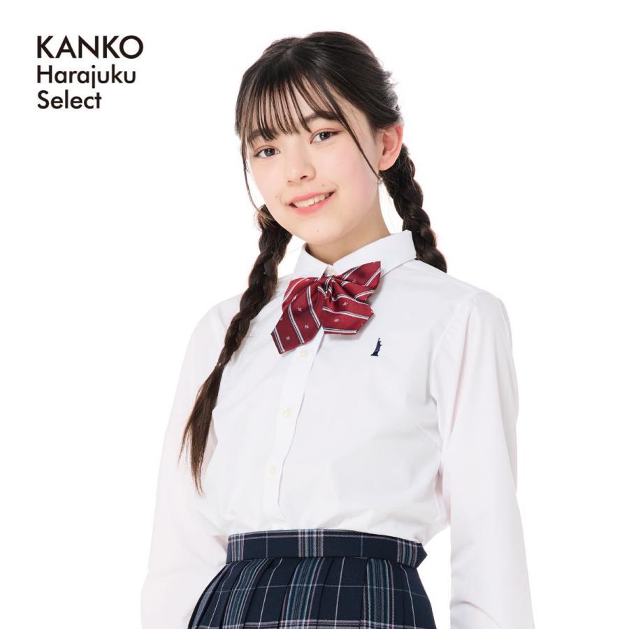 日本産 イーストボーイ シャツ ブラウス 女子 信用 長袖 白 刺繍 yシャツ eastboy 225000 制服 スクールシャツ カッター 学生
