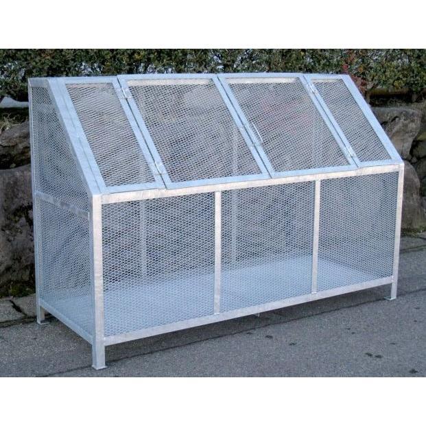 町内のゴミステーションB型標準#1200(カラス対策·細目メッシュ)2枚扉·組立簡単(粋なゴミ箱プレゼント)本州地域送料無料