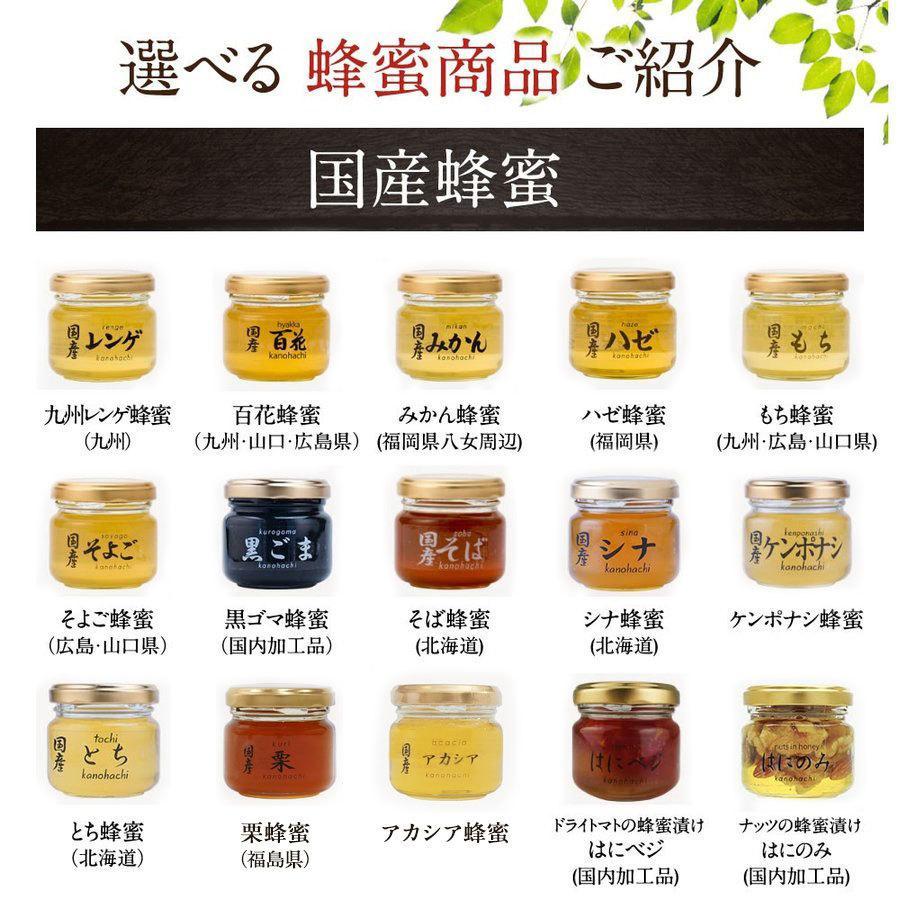 蜂蜜(はちみつ)ハニーお試しセット 送料無料 国産、外国産の純粋蜂蜜30種以上(1つ90g)から5つ選べる お得なはちみつ5点セット 蜂蜜専門店かの蜂 kanohachi 12
