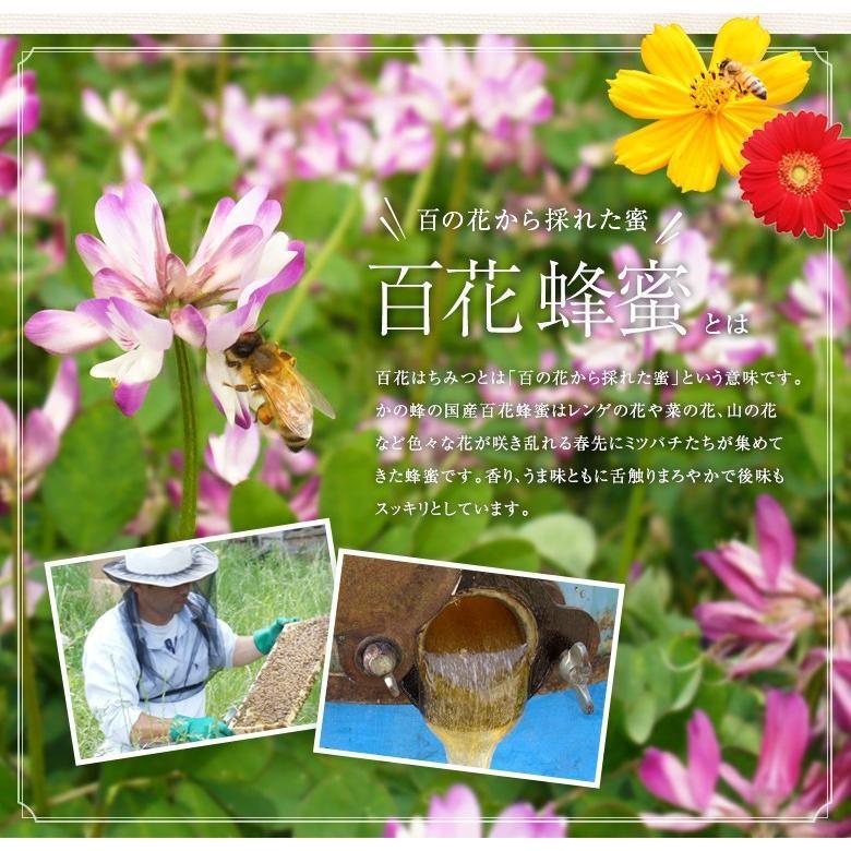 国産 百花はちみつ 国産蜂蜜 とんがり容器 1000g  はちみつ専門店 かの蜂|kanohachi|02