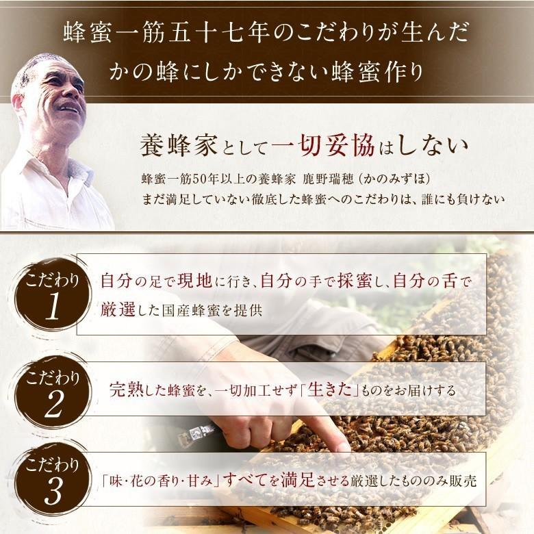 国産 百花はちみつ 国産蜂蜜 とんがり容器 1000g  はちみつ専門店 かの蜂|kanohachi|04