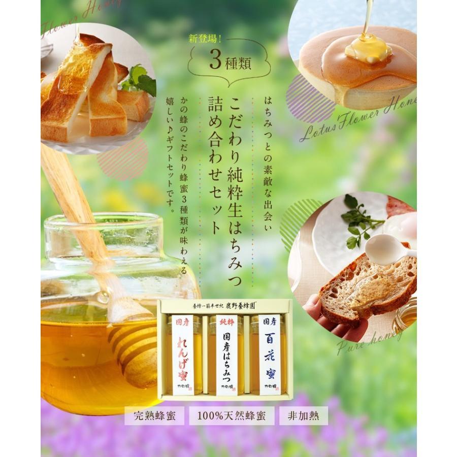 母の日 ギフト国産蜂蜜(れんげ・国産はちみつ・百花蜜)250g×3本 国産蜂蜜 はちみつ 蜂蜜専門店 かの蜂 kanohachi 02